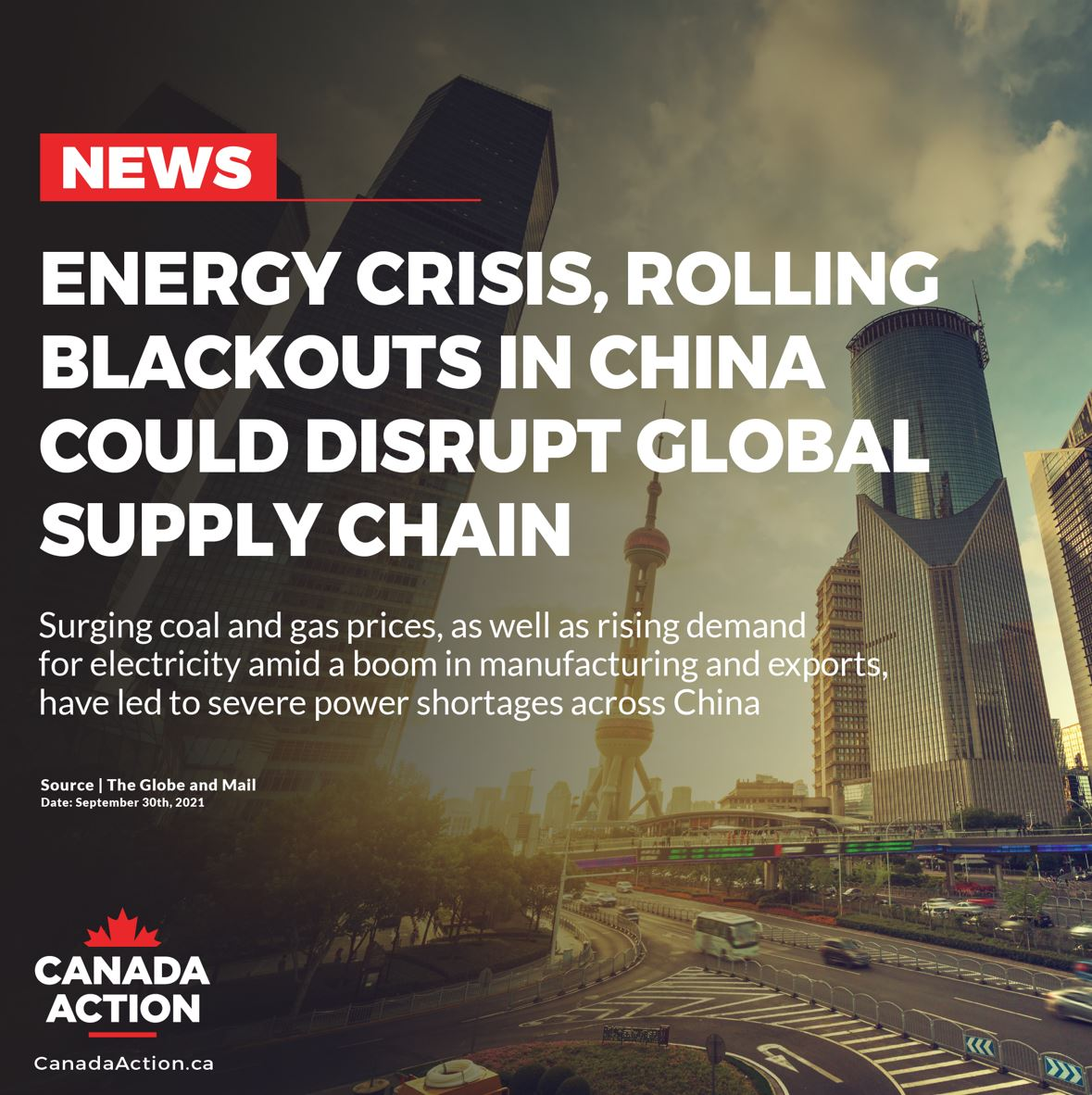 global energy crisis in china
