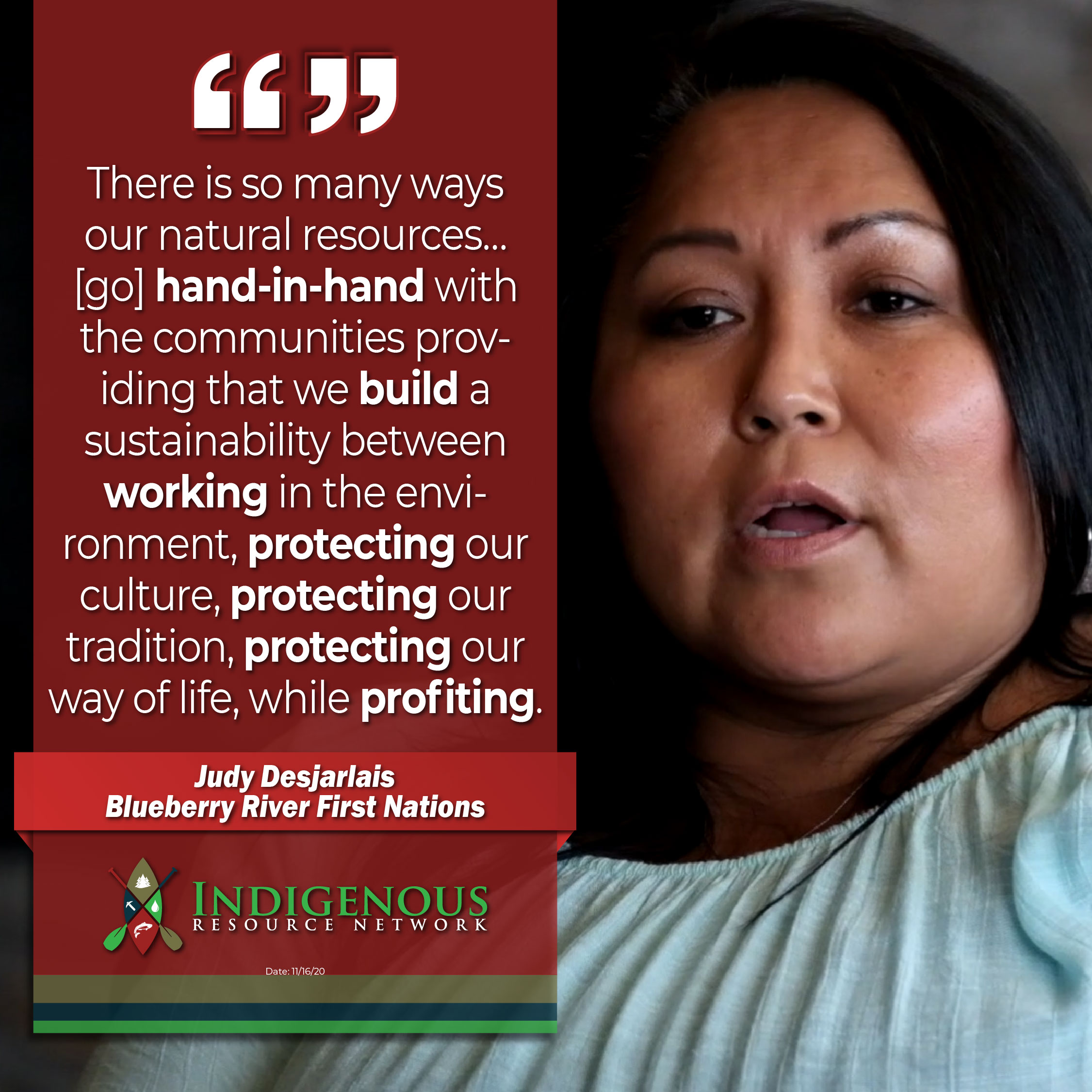 Indigenous Resource Network - Member Quote