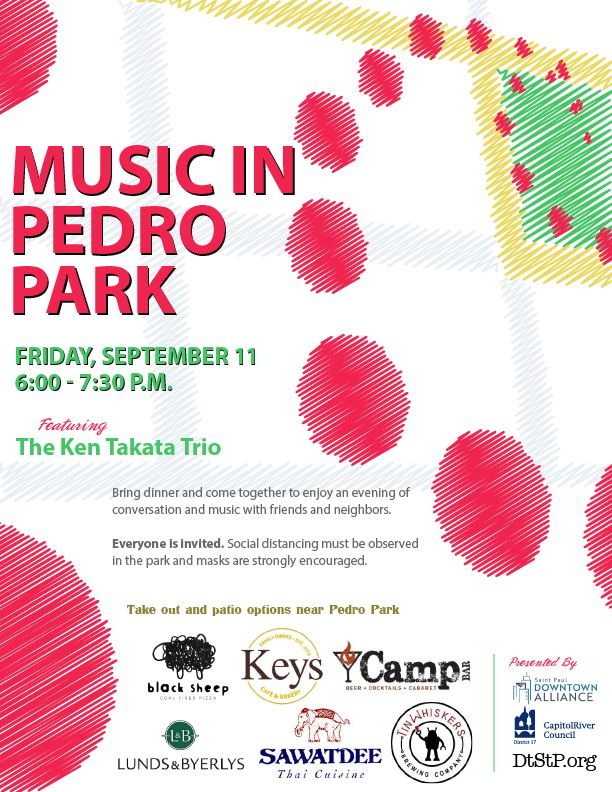 Music In Pedro Park Flyer