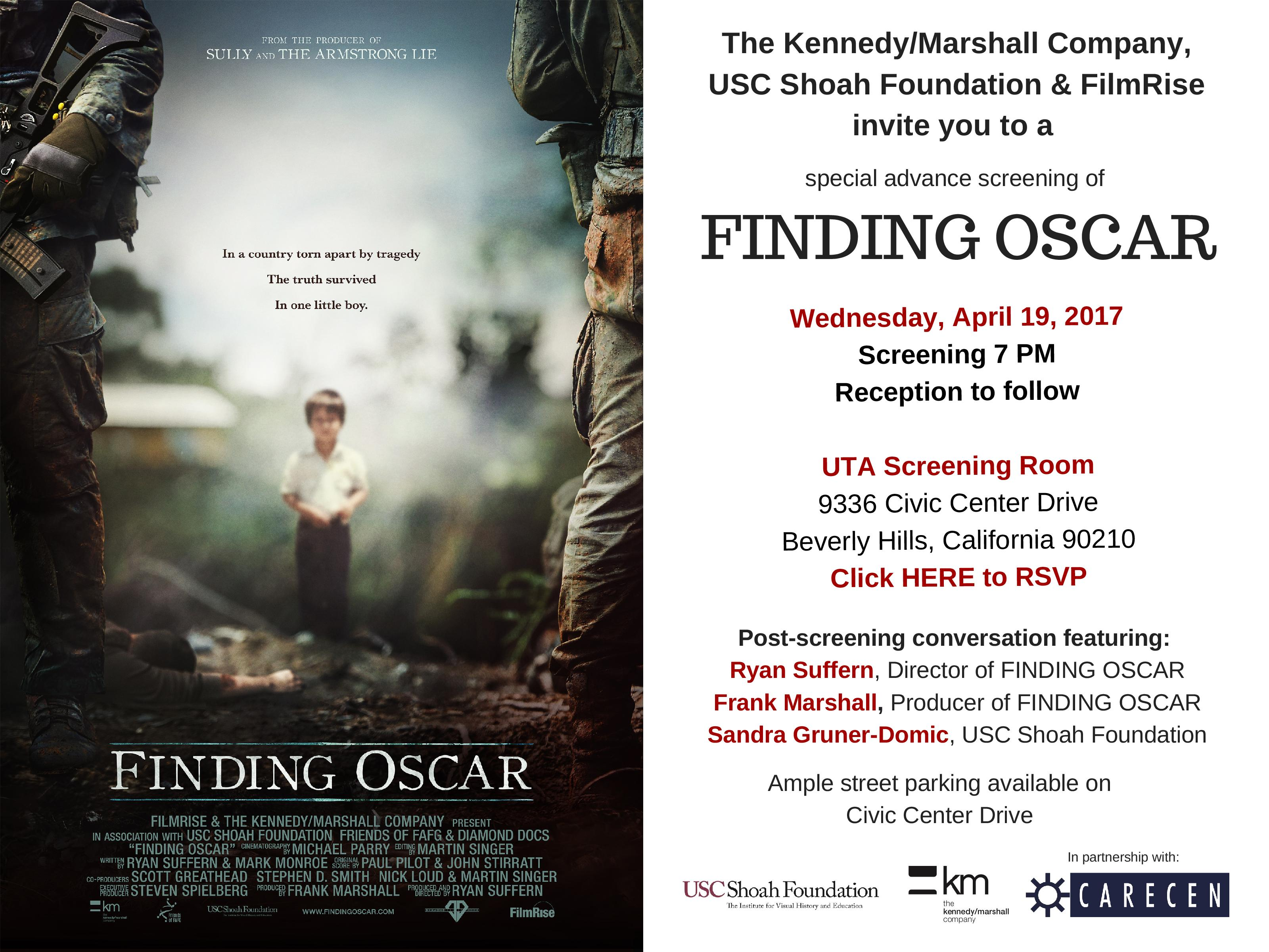 Finding Oscar Film Screening DTLA Central American Resource