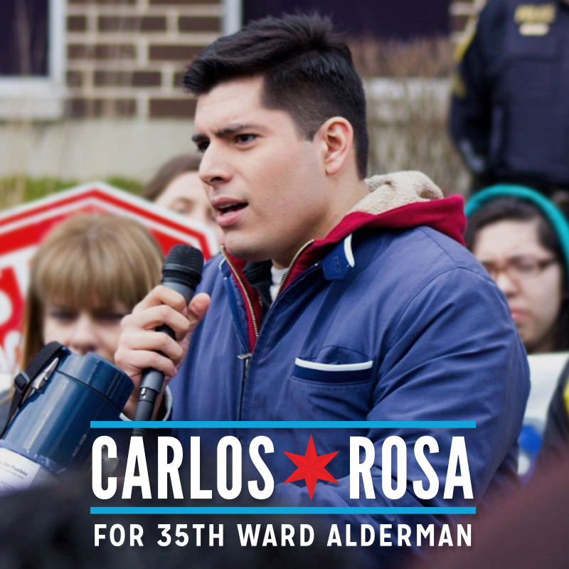 Carlos Rosa for Alderman.