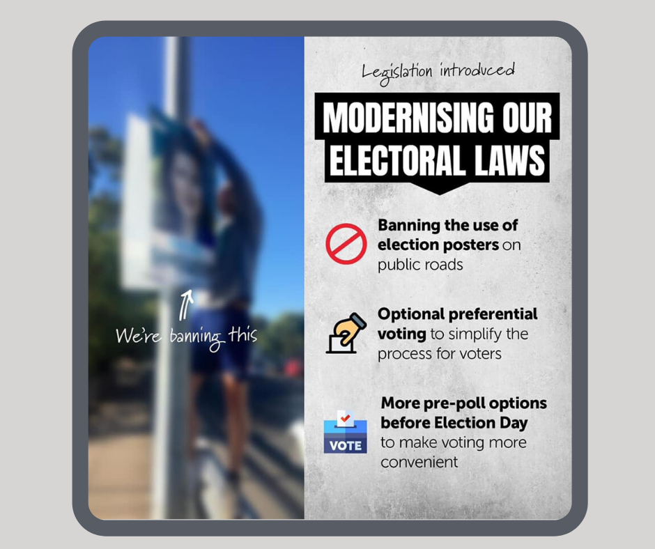 Proposed Electoral Reform: Banning Election Posters