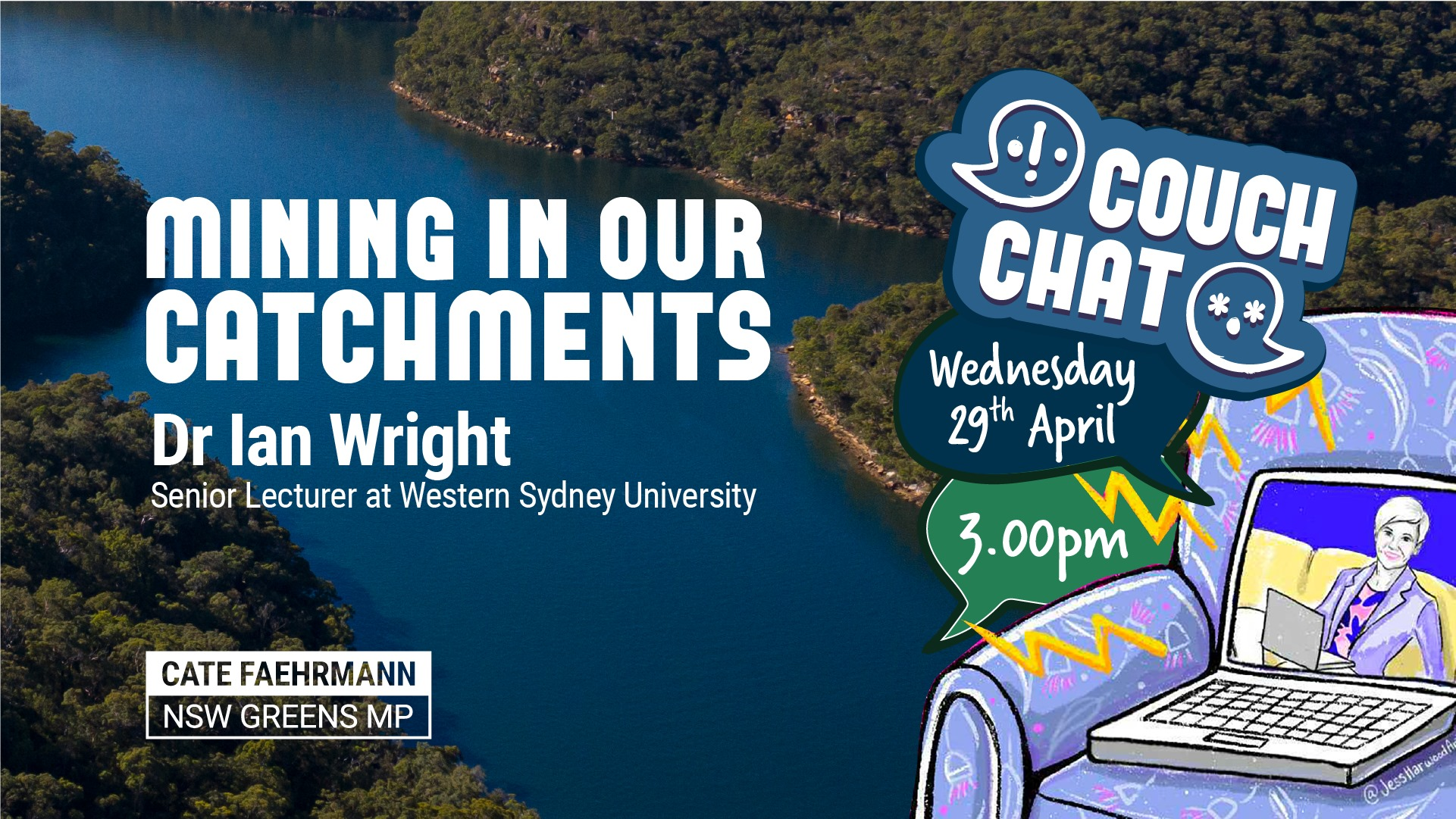 Mining under our water catchments with Dr Ian Wright