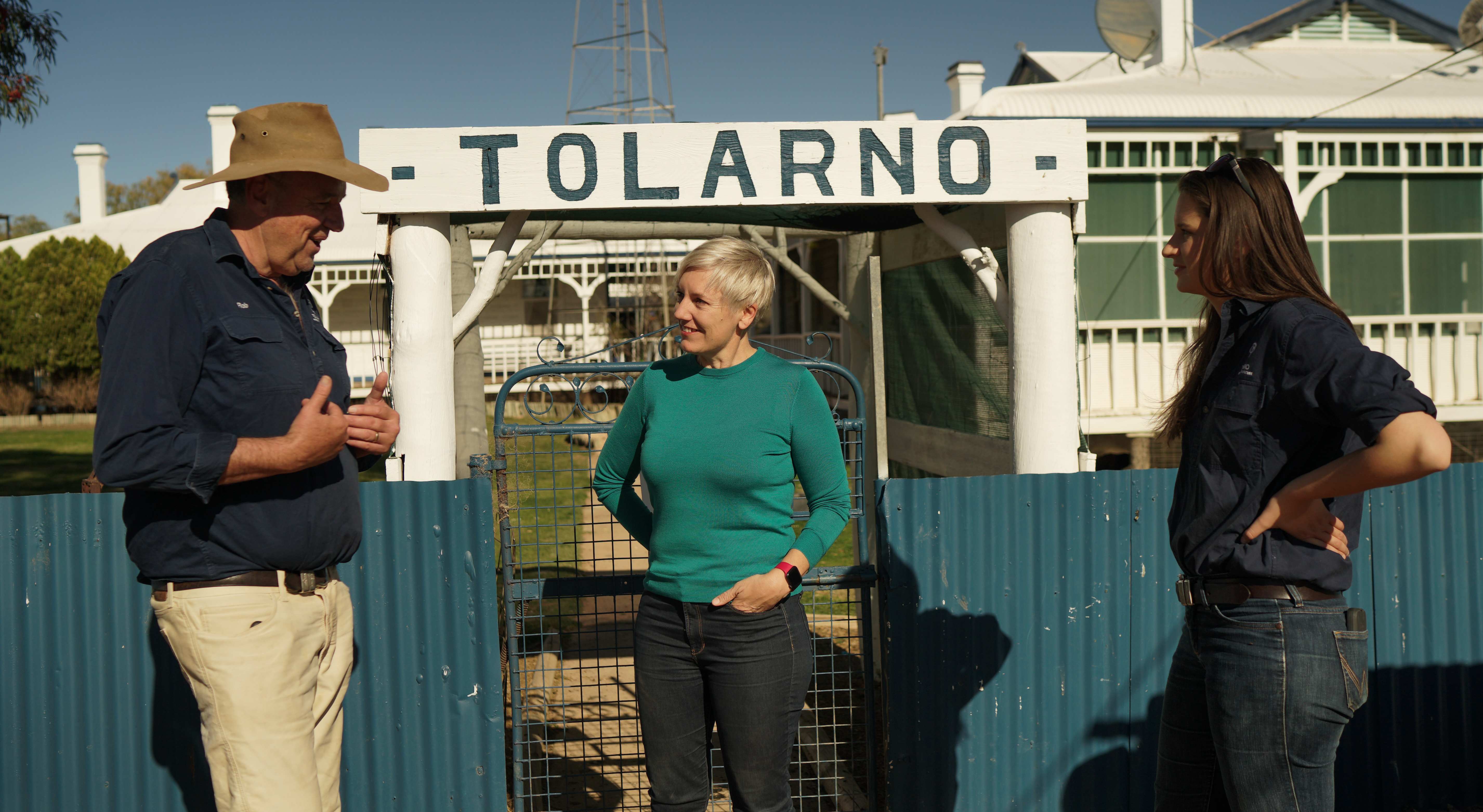 Arriving at Tolarno with Rob and Kate McBride