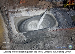 fracking well pit
