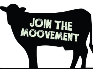 Cow Graphic 'Join the Moovement'