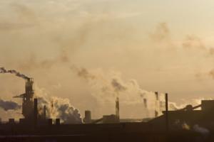Smoke stacks and smog