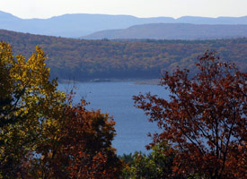 The Ashokan Reservoir is part of the city's Catskill water supply system. (Credit: Jim McKnight/AP Photo)