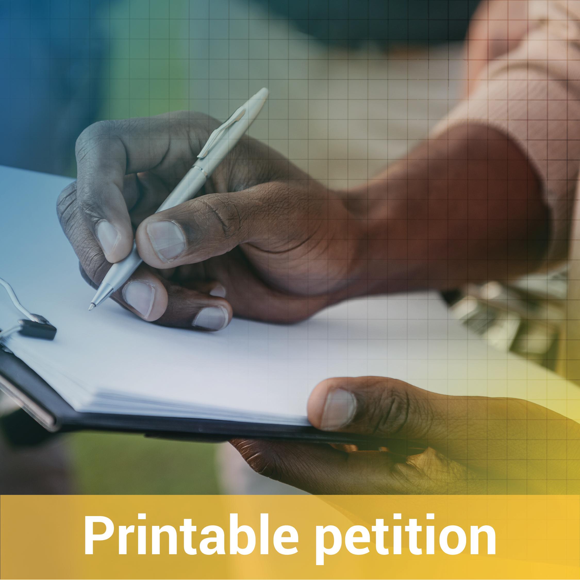 Printable petition