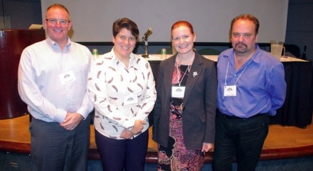 Four representatives of Canadian Blood Services after their panel at Summit