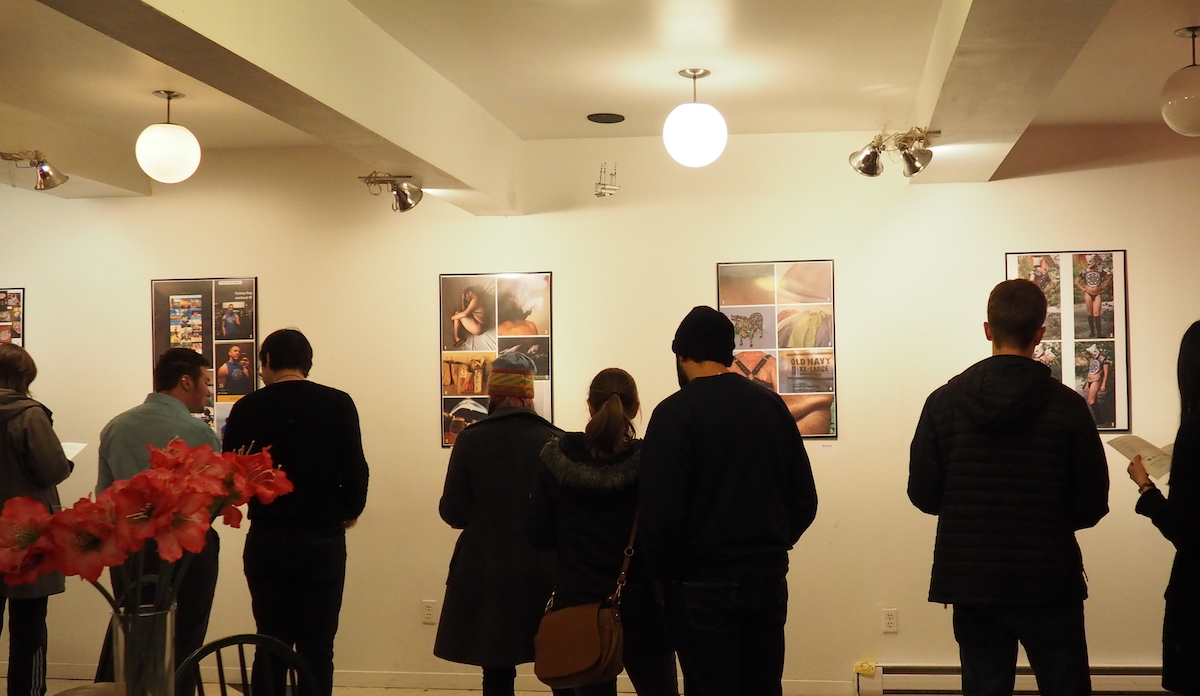 Photo of people at an art gallery