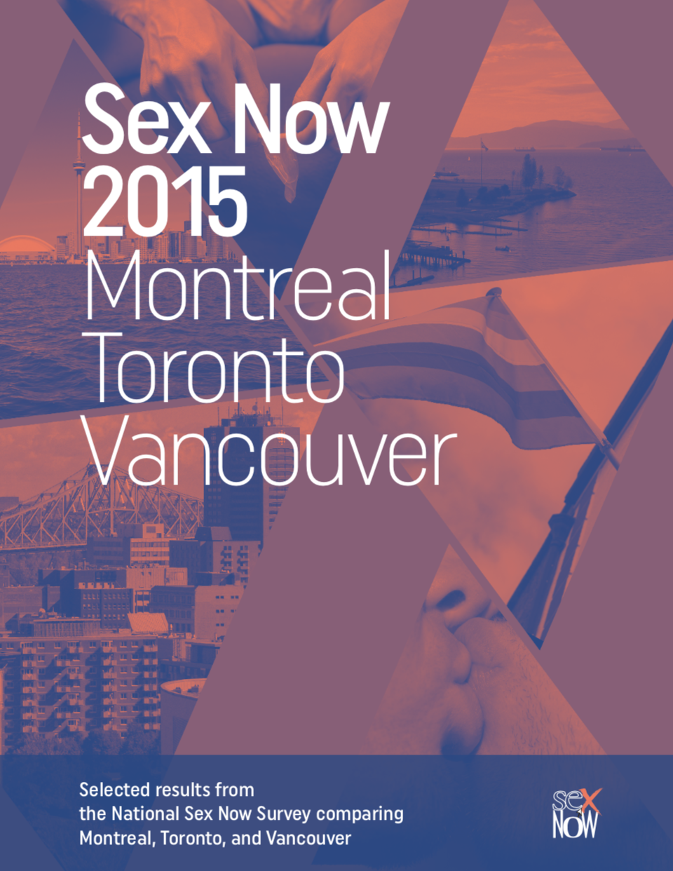 Cover of written report titled: Sex Now 2015 - Montreal Toronto Vancouver
