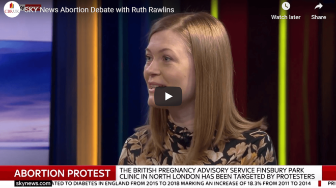 SKY NEWS Abortion Debate with Ruth Rawlins