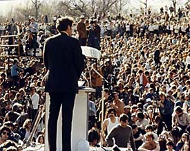 Senator Muskie, keynote speaker, Philadelphia Earth Day 1970
