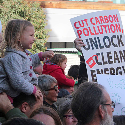 Clean energy activists