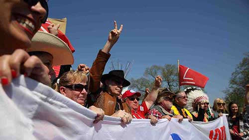 The Cowboy Indian Alliance at the Reject and Protect Rally