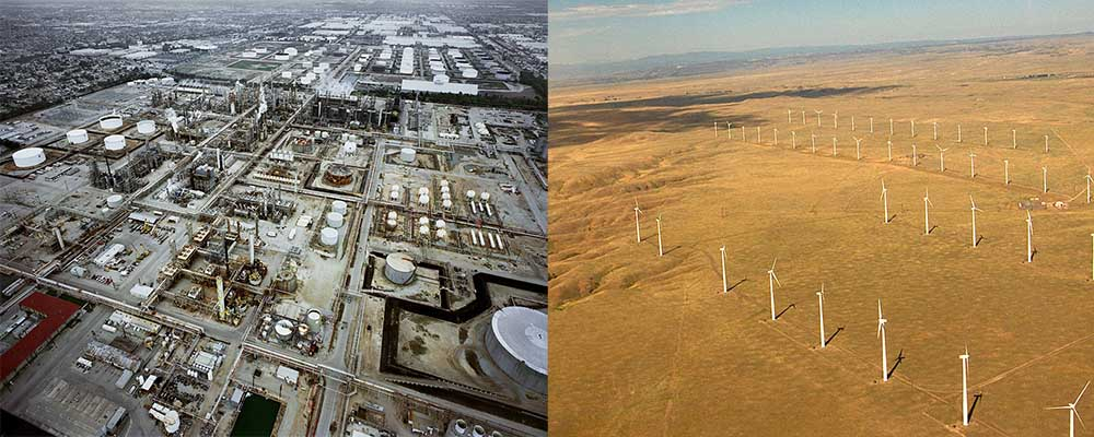 Transformation from fossil fuel to renewable infrastructure