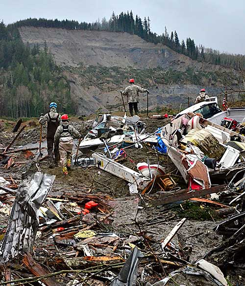 Oso, Washington mudslide, 2014