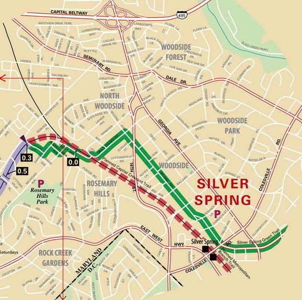 Silver Spring - Laytonsville detail map