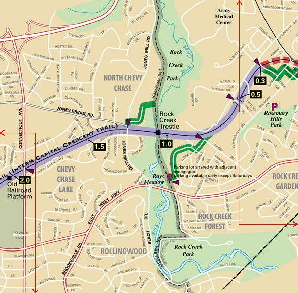 Rock Creek trestle detail map