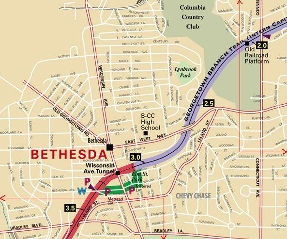 Downtown Bethesda detail map