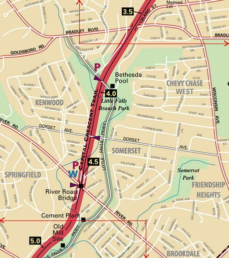 Bradley Blvd - River Road detail map