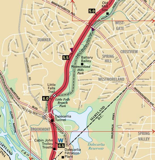 Massachusetts Ave - MacArthur Blvd detail map