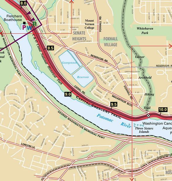 Fletchers Boathouse - Glover Archbold Trail detail map