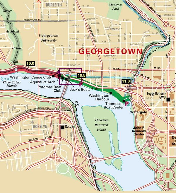 Georgetown trail terminus detail map