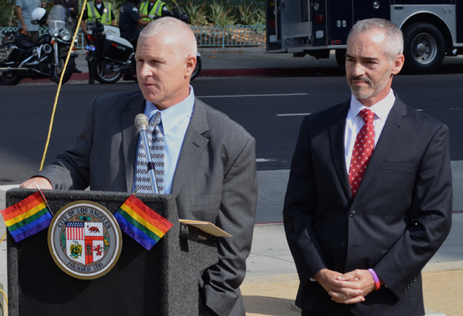 Councilmembers Mike Bonin and Mitch O'Farrell