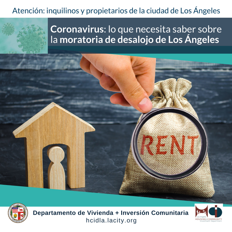 HCIDLA Eviction Moratorium Flyer Spanish