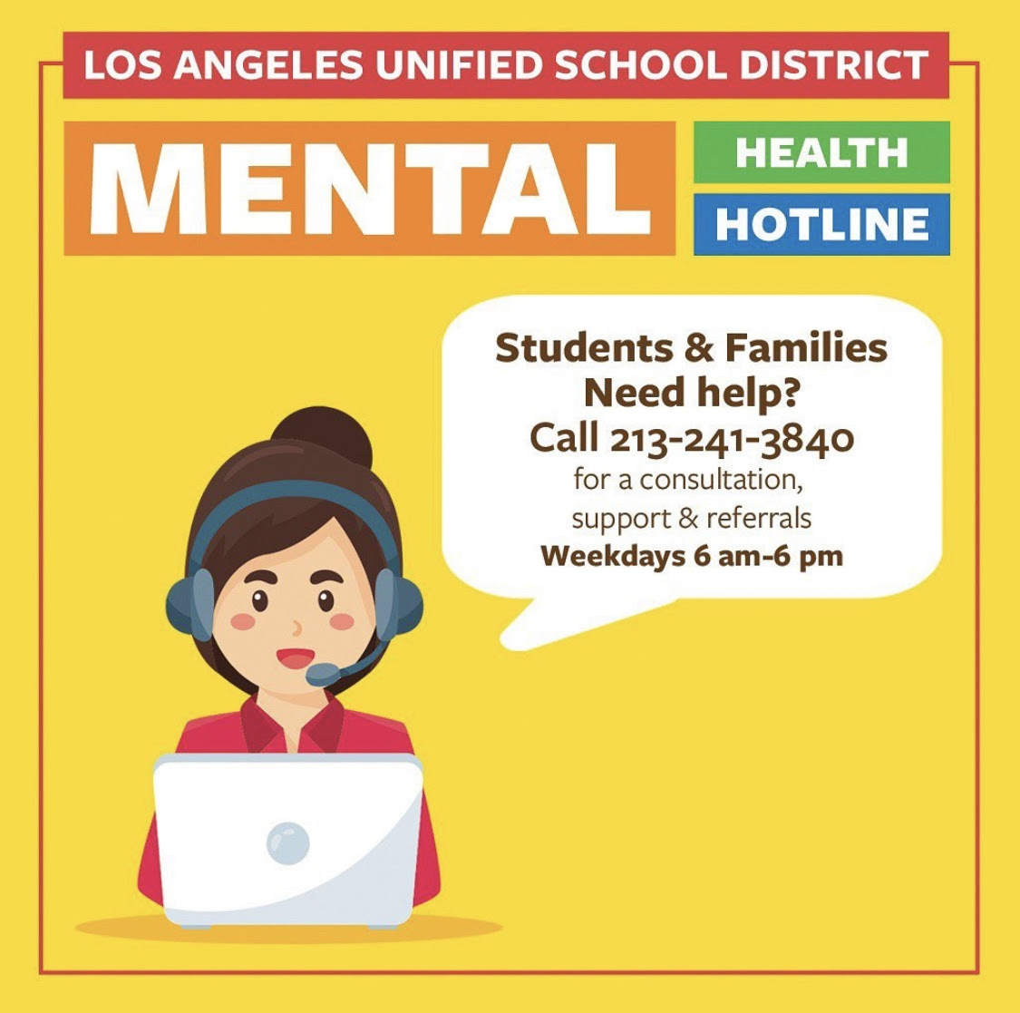 LAUSD Mental Health Phone Line