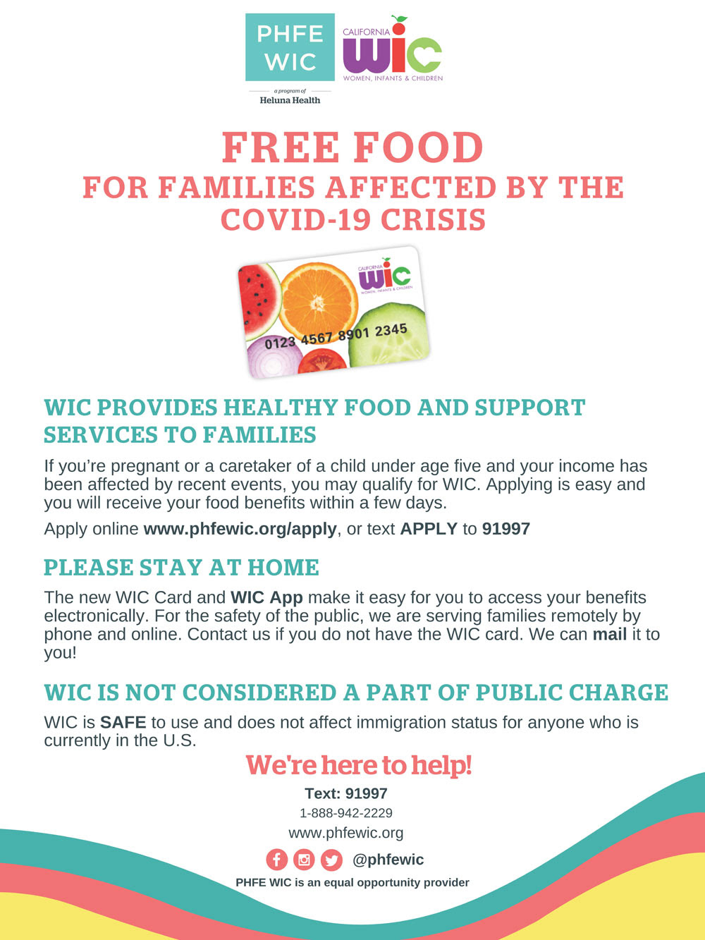 WIC Food Flyer