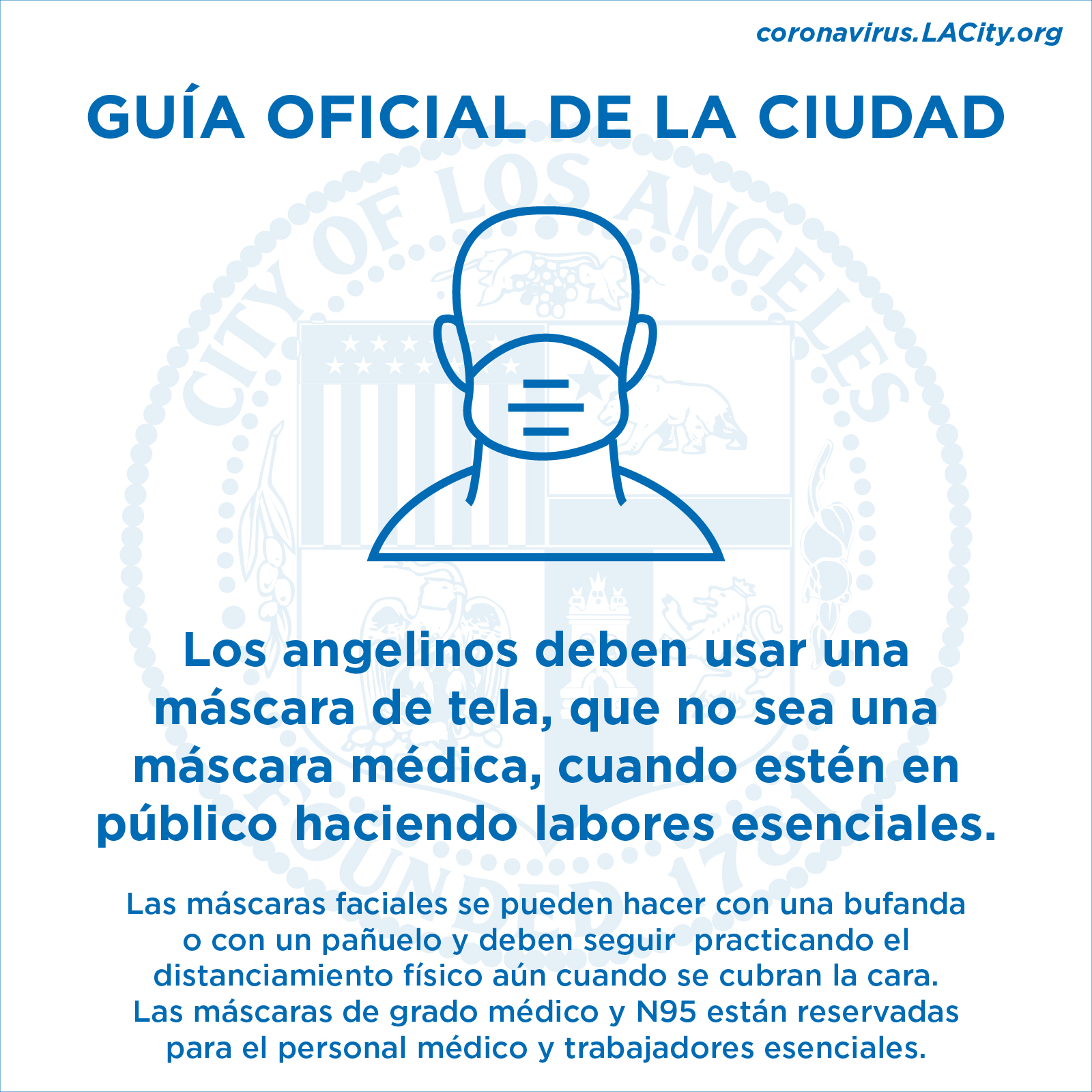 Face Covering Guidlines Spanish
