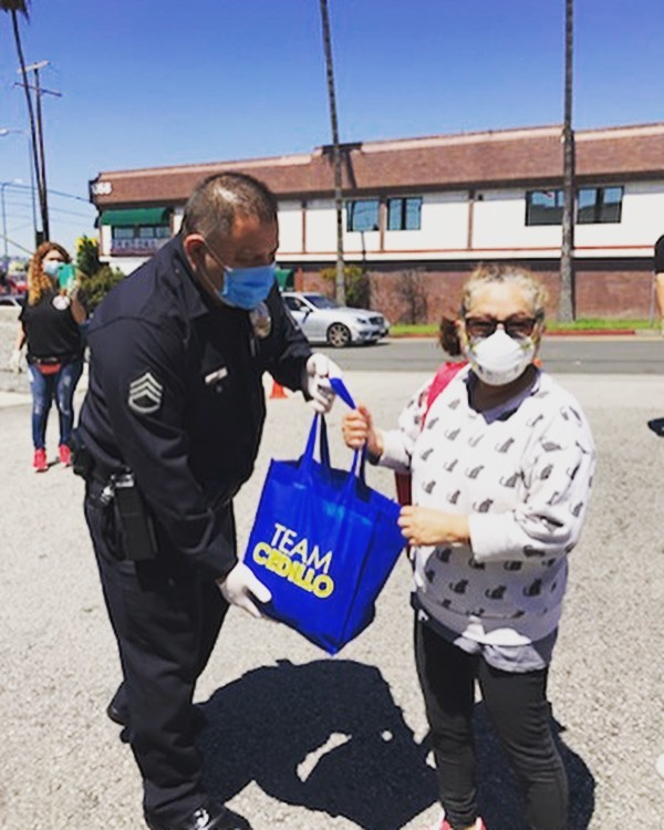 Olympic NW at LAPD Olympic Station 4-15-2020 #1