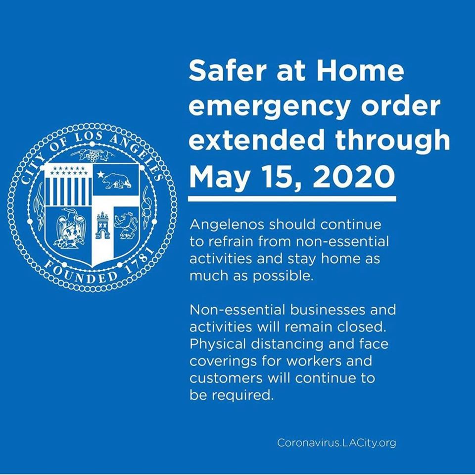 Safer at Home Emergency Order Extended