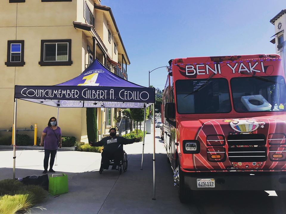 Beni Yaki Food Truck Delivered Food Cypress Park Seniors 4-22-2020