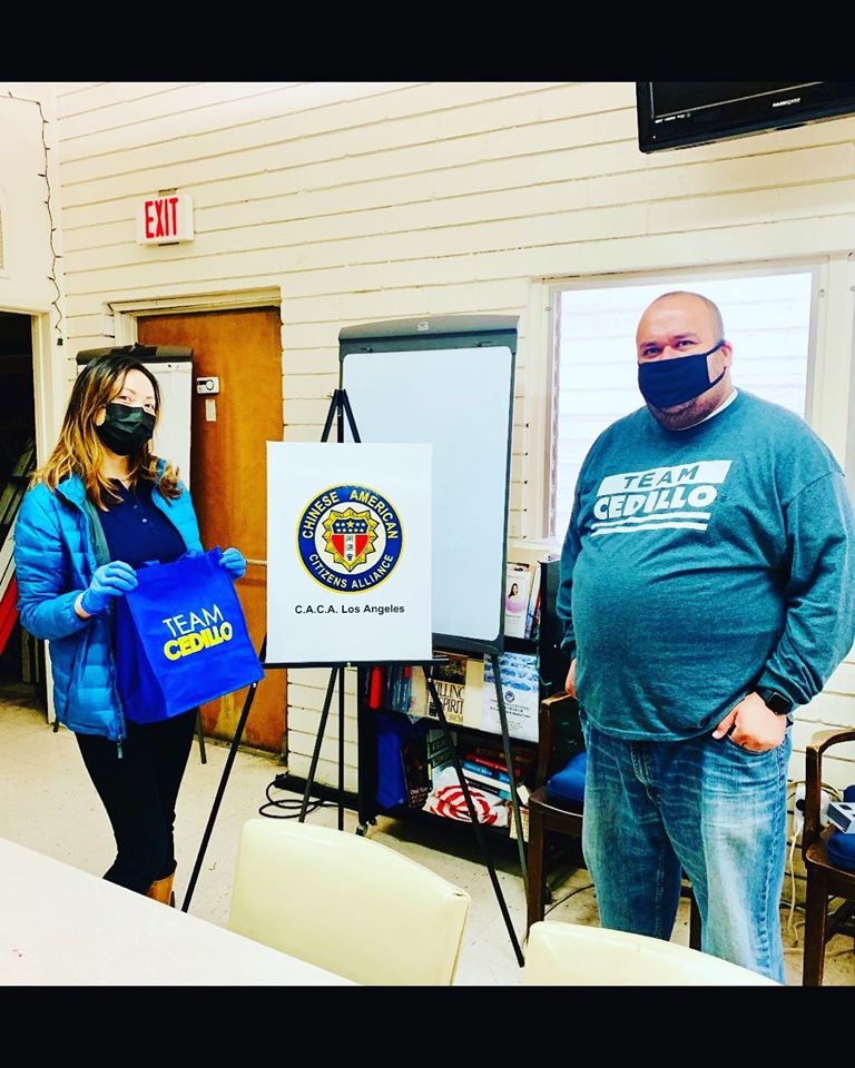 Team Cedillo delivered masks to the Chinese American Citizens Alliance 4-17-2020