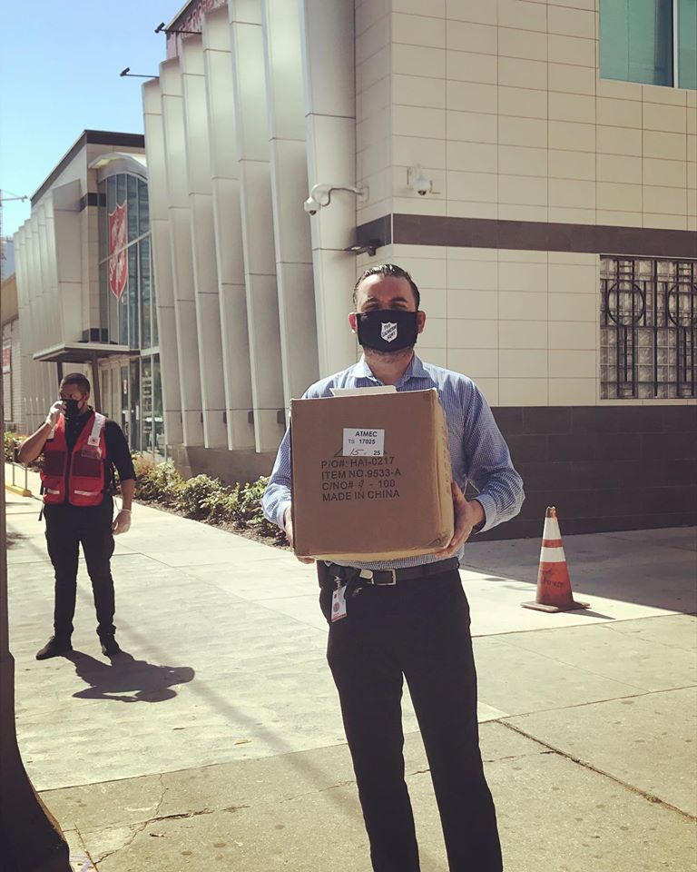 Dropping off resources at Red Shield 4-22-2020 #1