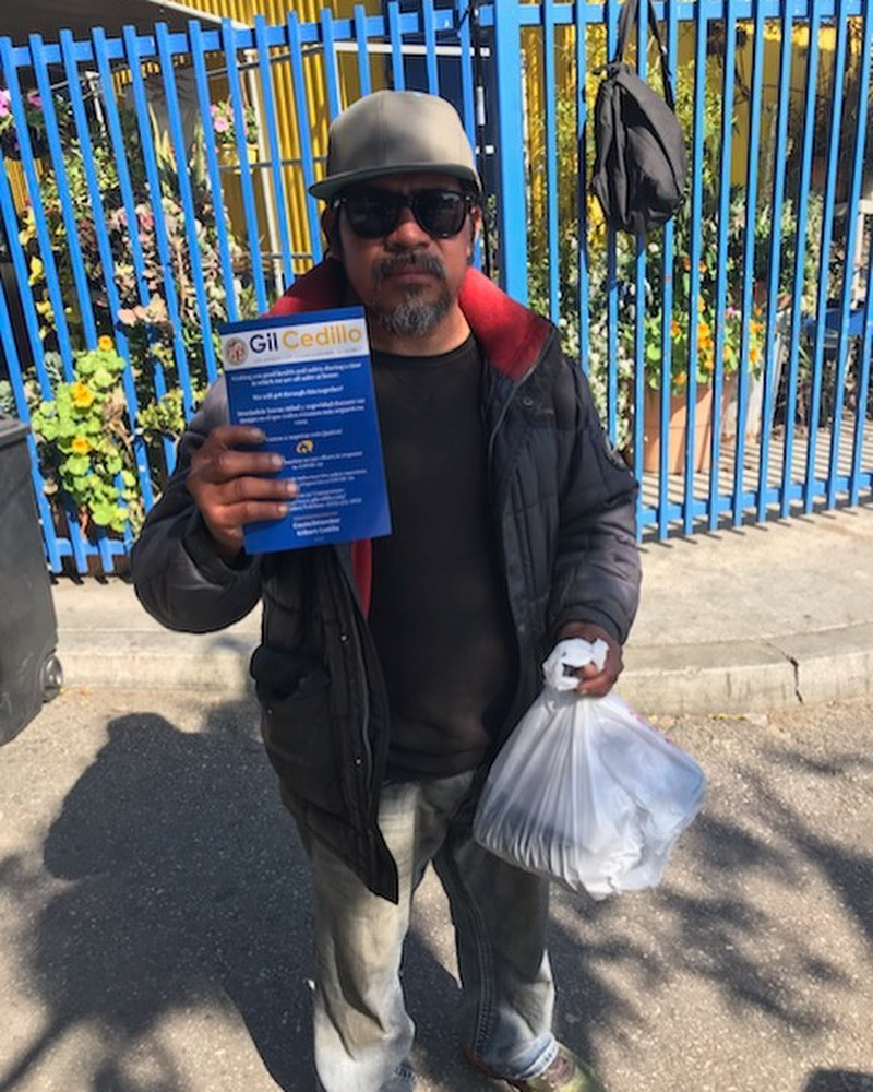 Food distribution in Cypress Park with Breaking Through Barriers for Success 4-21-2020 #1