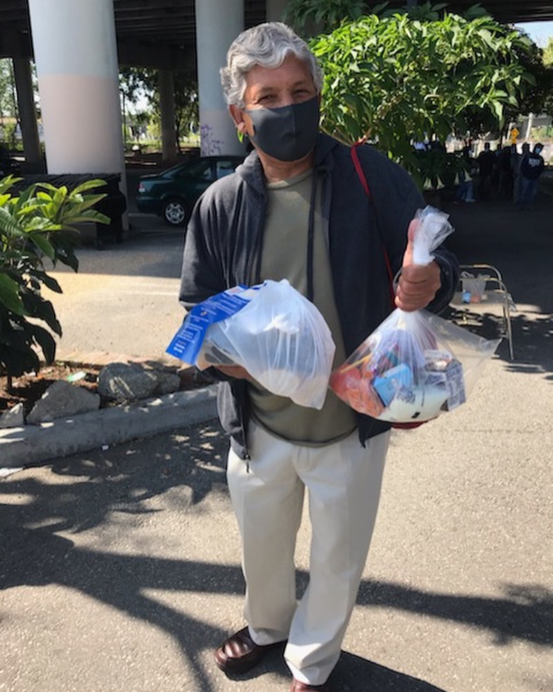 Food distribution in Cypress Park with Breaking Through Barriers for Success 4-21-2020 #2