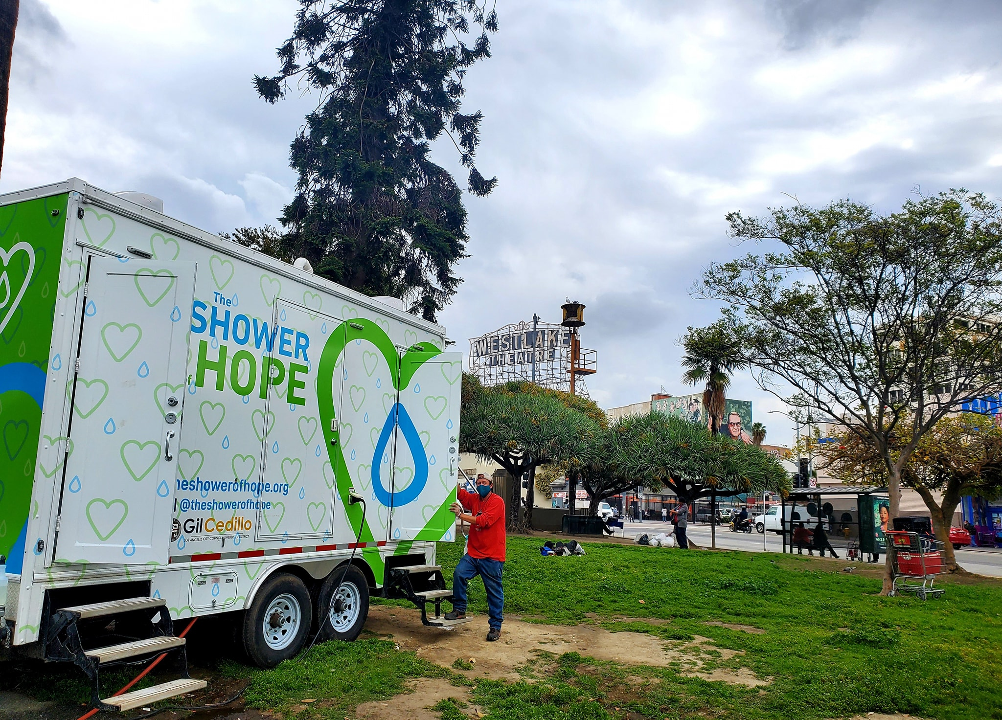 Shower of Hope MacArthur Park 4-22-2020 #1