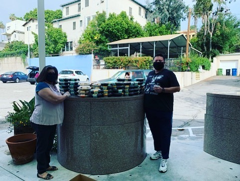 Historic Highland Park Neighborhood Council distribute Everytable Meals with CD 1 4-29-2020 #2