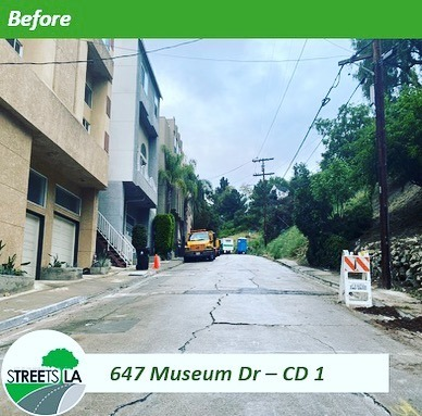 Museum Dr. Resurfacing Photo 1 4-24-2020 #1