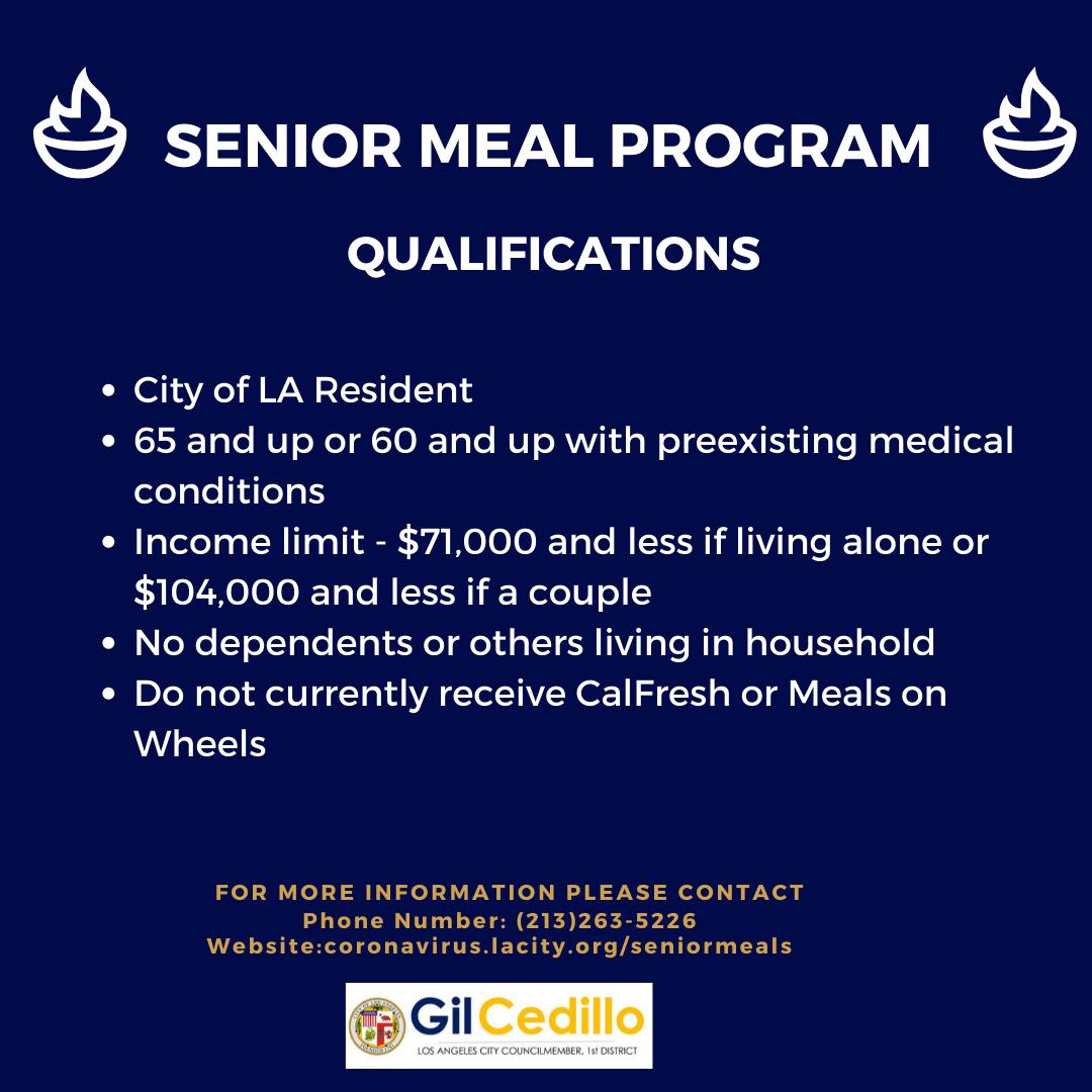 Senior Meal program - englsih
