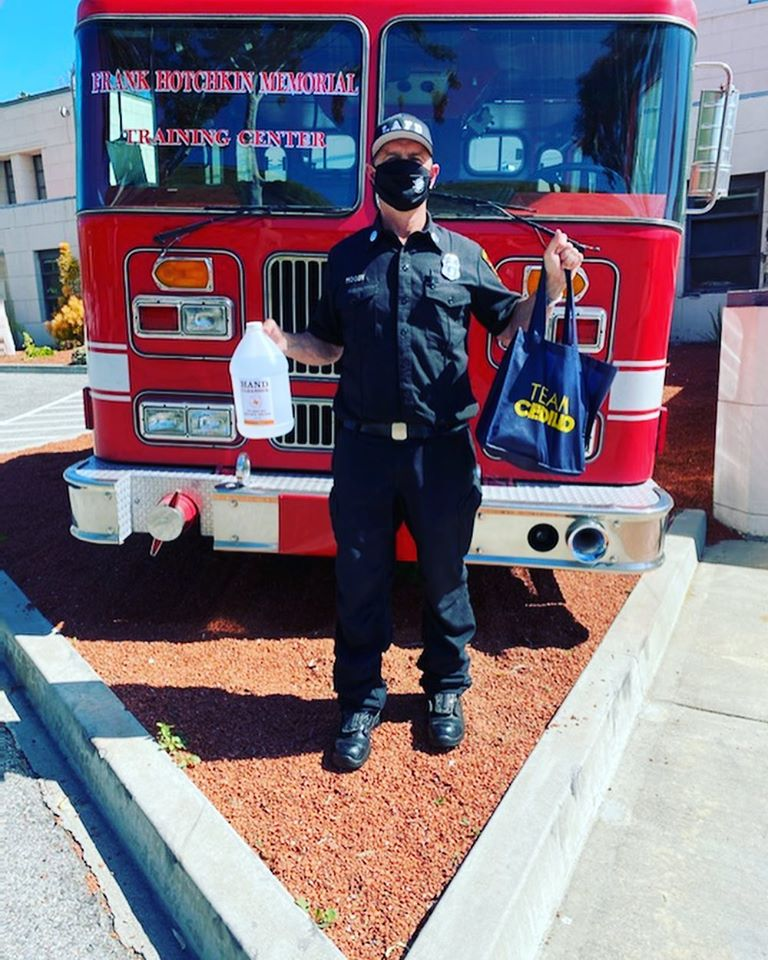 Tito's Vodka provides sanitizer to LAFD 4-29-2020 #1