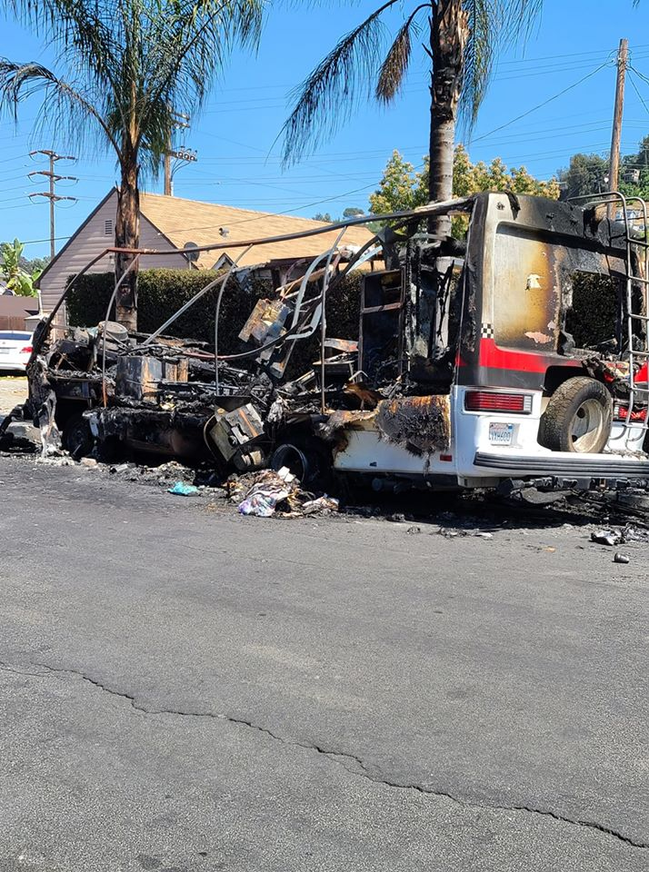 3570 Bushwick - Burned Motor Home in Glassell Park BEFORE 5-5-2020