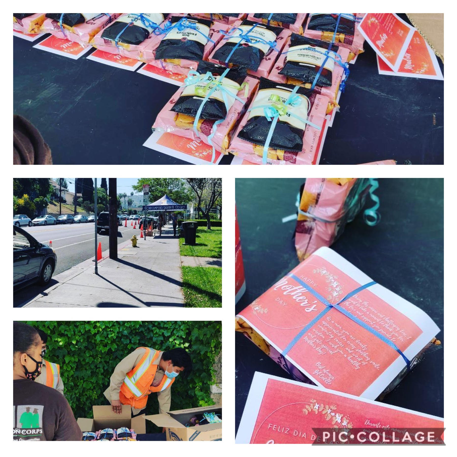 Aldama Elementary & LACC Deliver Mother's Day Cookies 5-8-2020 Collage