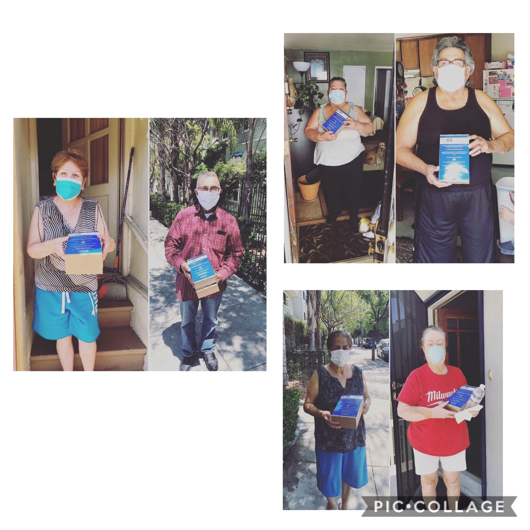 Angelina Apts residents receive Burgerlords Meals Collage #2 - 5-11-2020