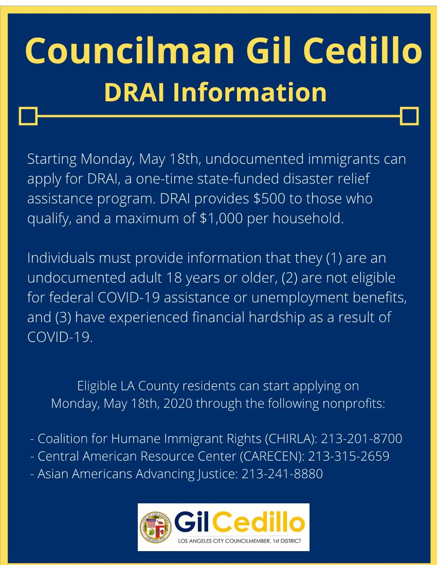 DRAI Info - Gil Cedillo 5-15-2020 ENGLISH